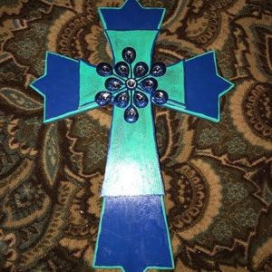Wall decor large wooden cross decorated beautiful